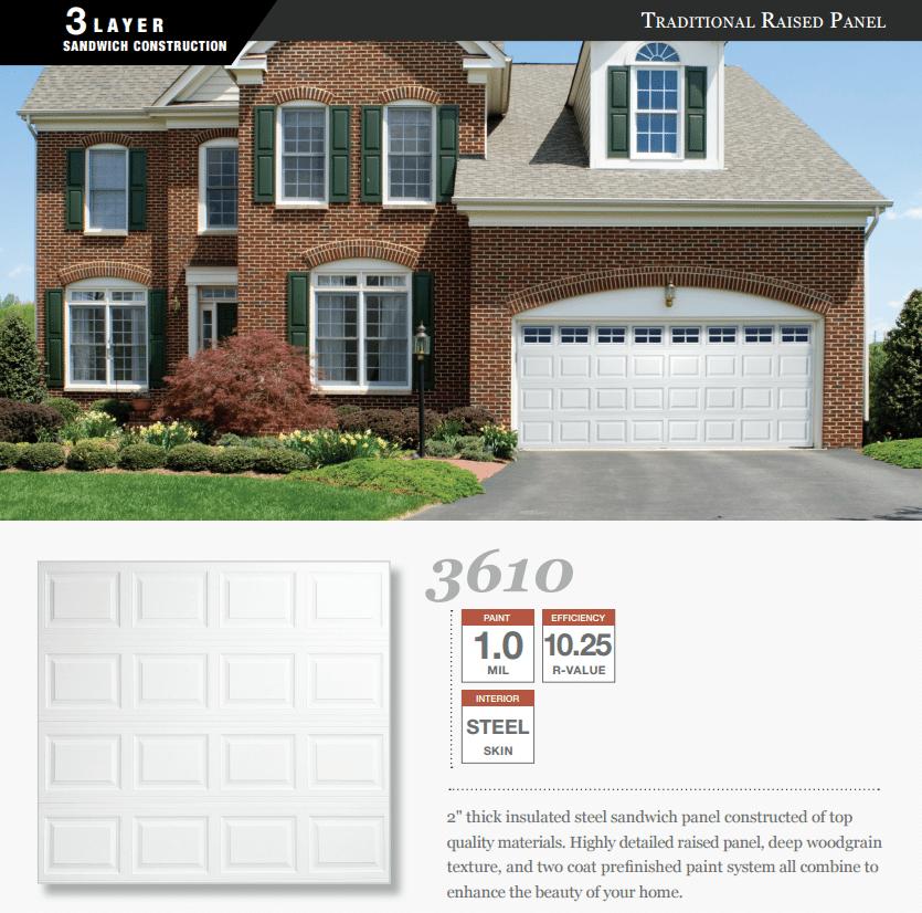 Doorlink 3610 Model Garage Door