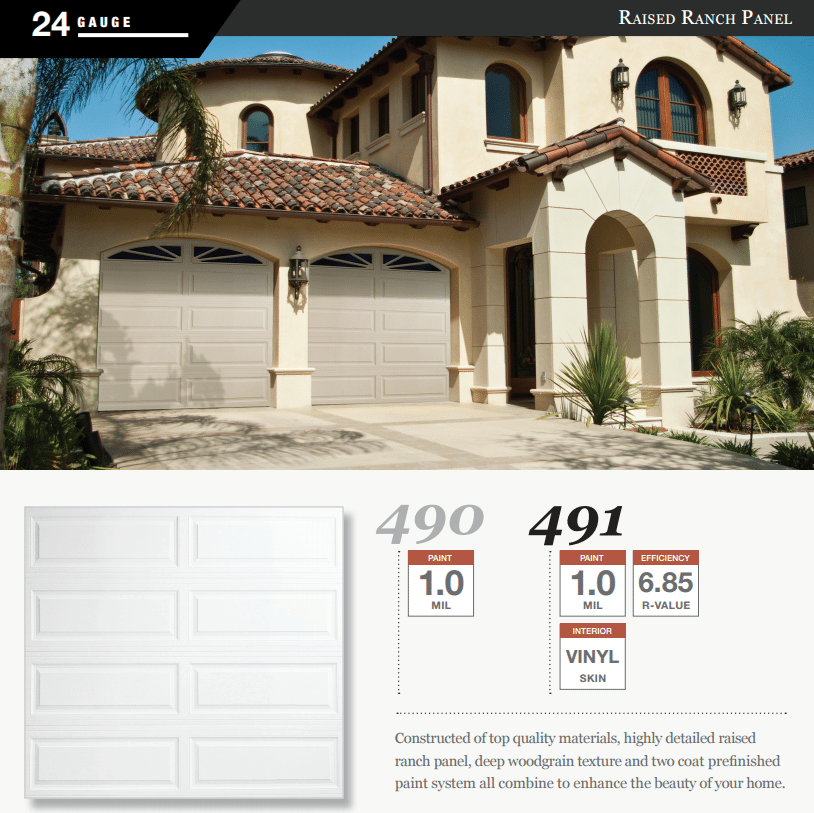 Doorlink 490 491 Model Garage Door